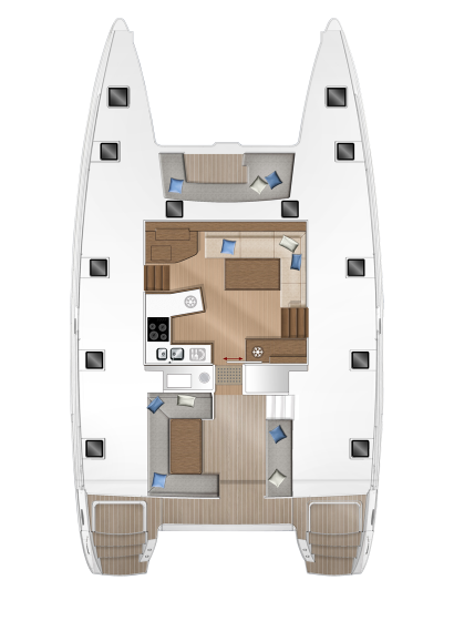 Avgerinos sailing, Interior of a Lagoon 450F