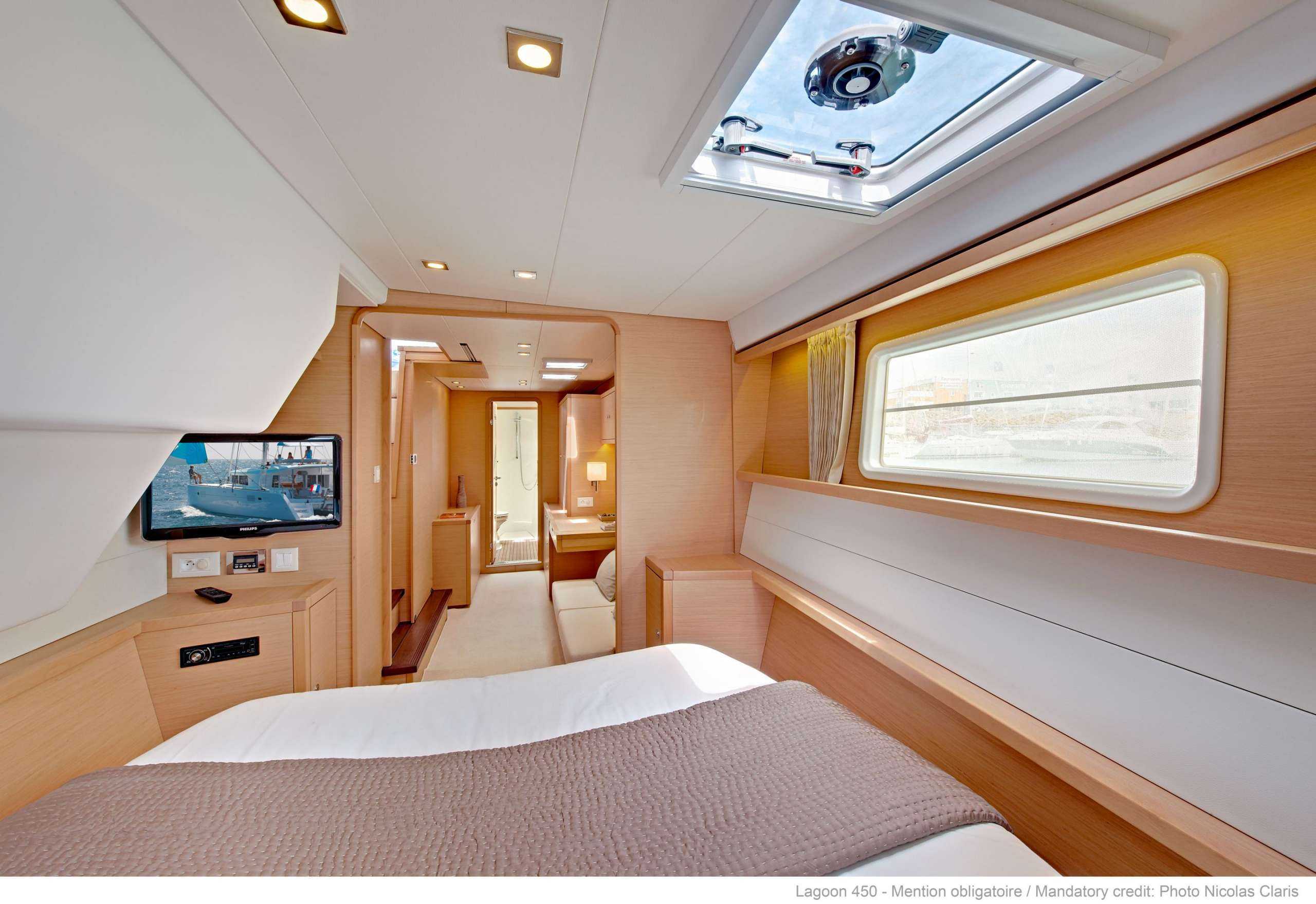 Lagoon 450F with the marvelous interior